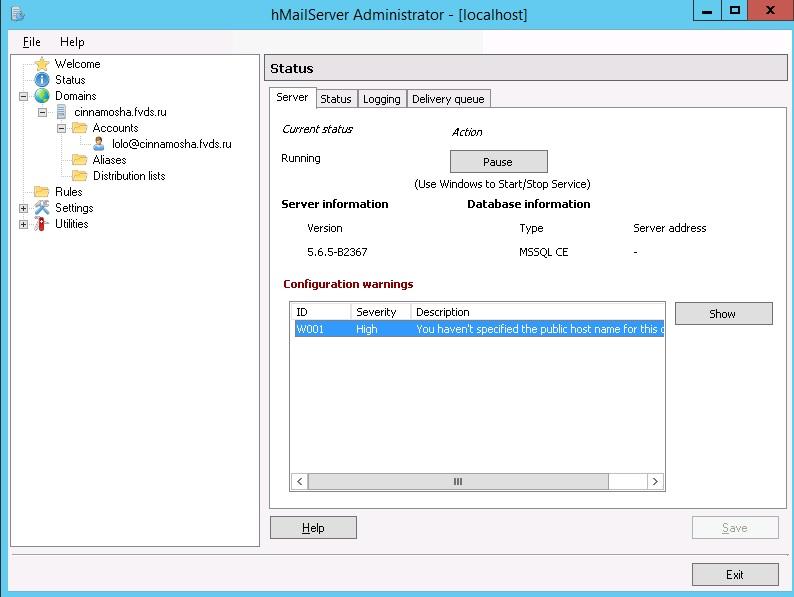 определить регистрацию домена